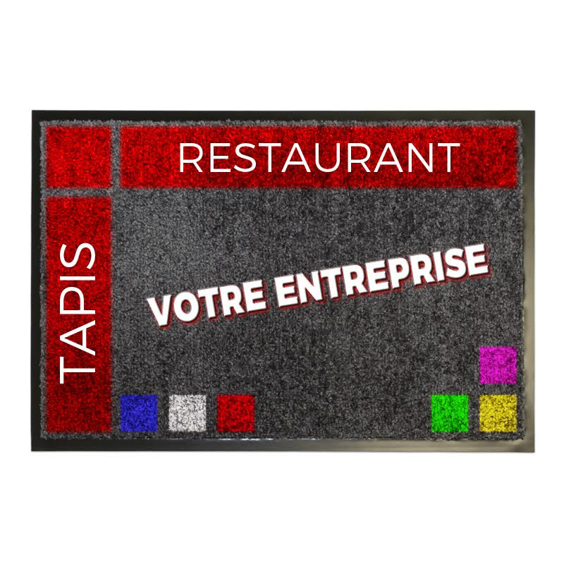 tapis logo premium restaurant tapis logo personnalis tapis publicitaire. Black Bedroom Furniture Sets. Home Design Ideas