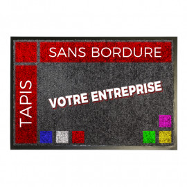 tapis logo sur mesure sans bords