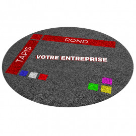 tapis rond personnalisé avec logo entreprise