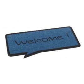 Paillasson Coco Bleu Welcome