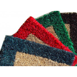 paillasson avec bord de couleur sur mesure