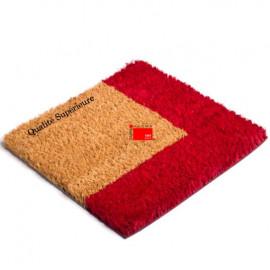 Paillasson coco avec Bord rouge