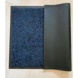 tapis entrée microfibre bleu