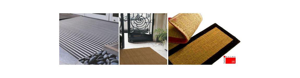 tapis à encastrer et tapis coco pour le déposer dans une fosse