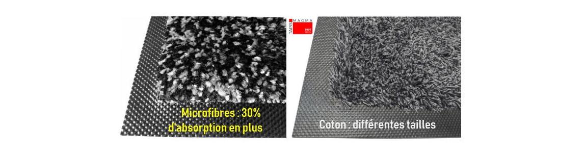 les tapis d'entrée cotons sont disponibles en différentes tailles.